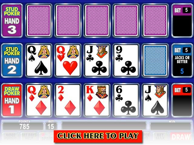 Click to Play Ace Invaders Bonus Poker