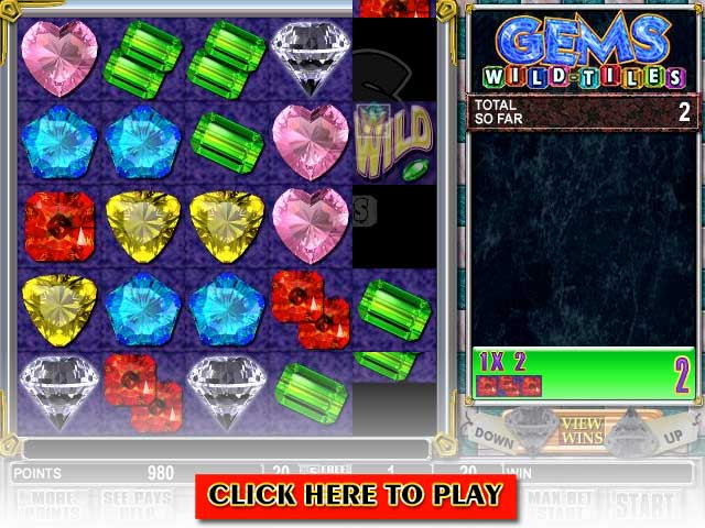 Click to Play Gems Wild-Tiles