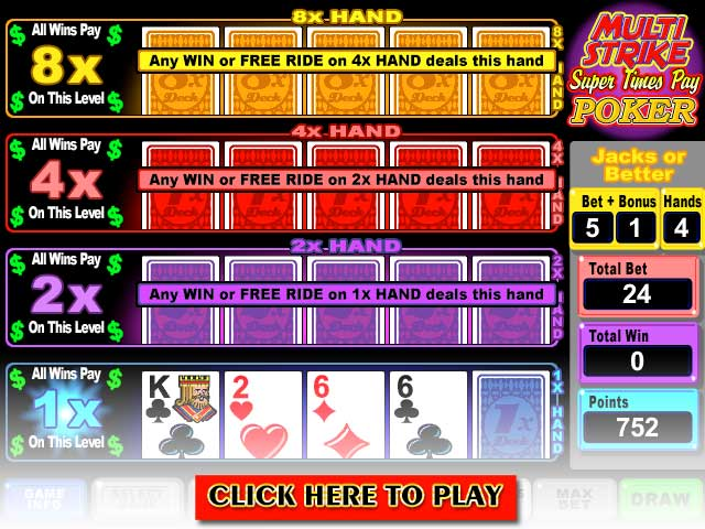 Click to Play Multi-Strike Super Times Pay Poker